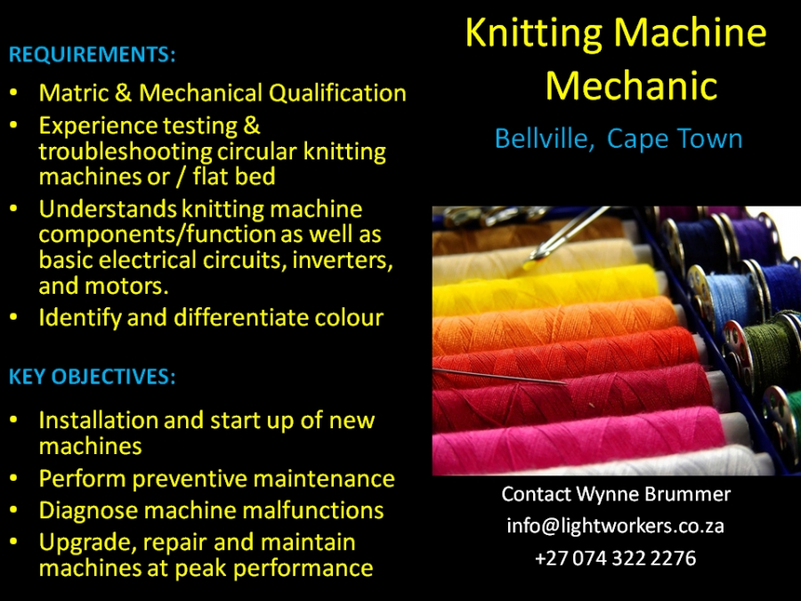Knitting Machine Mechanic