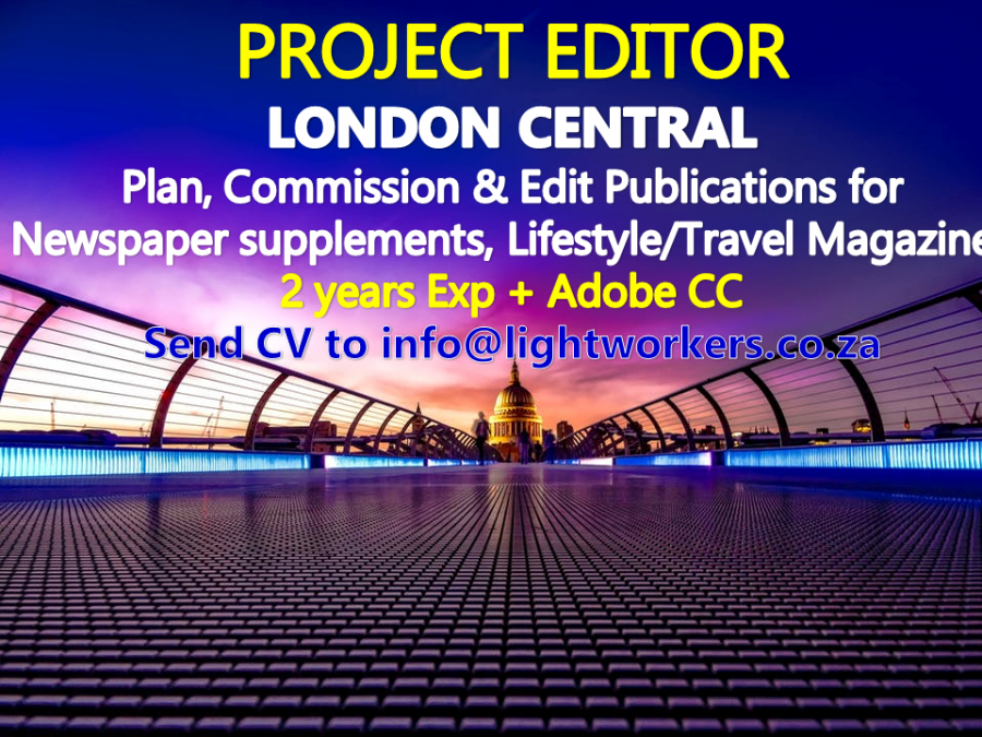 Project Editor, Junior - Mid